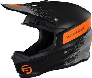 Shot Furious Roll Casque de motocross Noir Orange taille : M