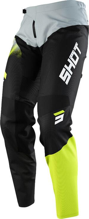 Shot Devo Versus Pantalon de motocross pour enfants Gris Jaune taille : 6/7