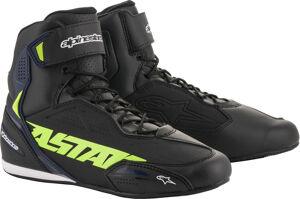 Alpinestars Faster 3 Neon Chaussures de moto Noir Bleu Jaune taille : 47 48
