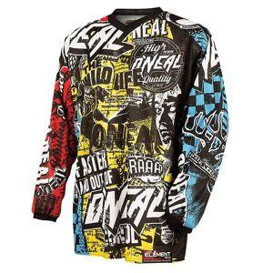 Oneal Element Wild Maillot de Motocross de jeunesse Multicolore taille : XL