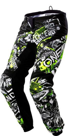 Oneal Element Attack Pantalon Motocross pour les jeunes Noir Jaune taille : 28