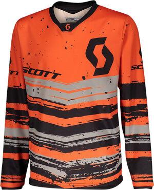 Scott 350 Noise Maillot de Motocross pour enfants Noir Orange taille : XL