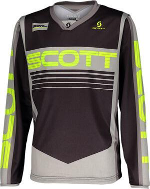 Scott 350 Race Maillot de Motocross pour enfants Gris Jaune taille : XS