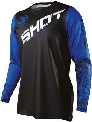 Shot Devo Slam Maillot de Motocross pour enfants Noir Bleu taille : 8 - 9
