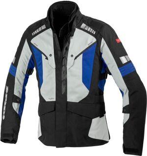Spidi H2Out Outlander Veste textile de moto Noir Gris Bleu taille : 2XL