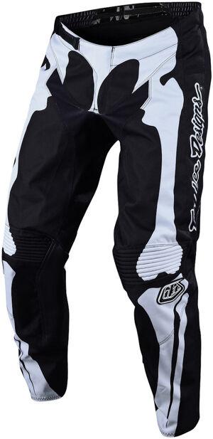 Troy Lee Designs GP Skully Pantalon Motocross pour les jeunes Noir Blanc taille : XL
