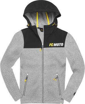 FC-Moto Faster-H Sweat à capuche zip polaire Noir Gris taille : S