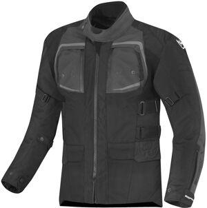 Berik Safari Pro Veste textile de moto imperméable à l'eau Noir Gris taille : 56
