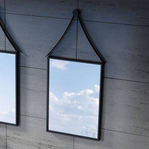 Distribain Miroir Rectangulaire avec contour noir SDVM5670