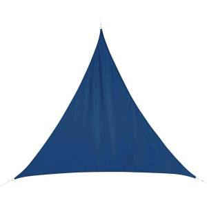 Hespéride Voile d'ombrage Curacao triangulaire Bleu indigo Jardin 2 x m - Polyester