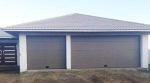 NAO L 1900 x H 1900 mm Porte de garage sectionnelle Grise Lisse