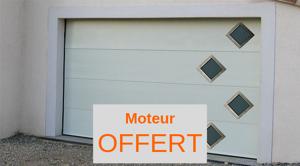 NAO L 3000 mm x H 2700 mm Porte de garage sectionnelle Design aluminium isolé Motorisée