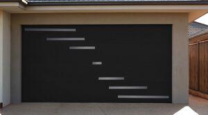 NAO L 2700 mm x H 2700 mm Porte de garage sectionnelle Aluminium