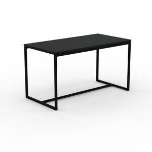 MYCS Table basse - Noir, design, bout de canapé sophistiqué - 81 x 46 x 42 cm, personnalisable