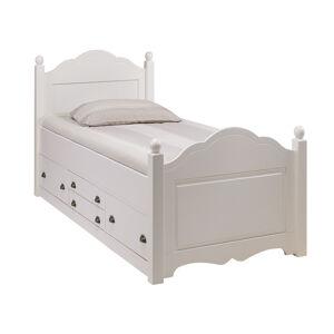 Lit Enfant Blanc 4 Tiroirs 90 x 190 cm