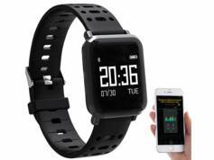 Newgen Medicals Montre fitness étanche avec cardiofréquencemètre et tensiomètre SW-250.hr