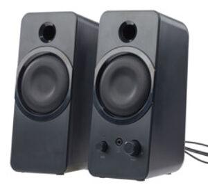 Auvisio Haut-parleurs USB stéréo actifs 10 W MSX-150 (reconditionnés)
