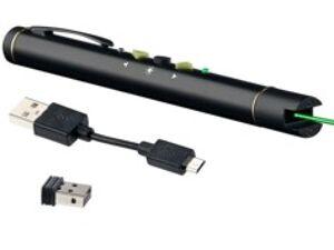 GeneralKeys Pointeur laser vert avec fonction télécommande