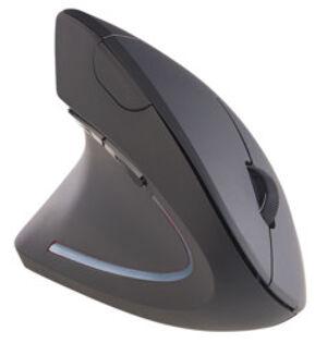 GeneralKeys Souris optique ergonomique sans fil 1600 dpi 2,4 GHz pour gauchers