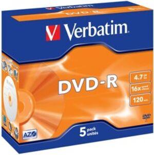 Verbatim DVD-R Verbatim 4,7 Go (x5)