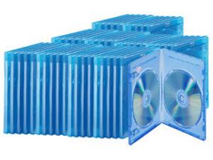 Pearl Lot de 50 boîtiers fins transparents pour Blu-ray, pour 2 disques chacun