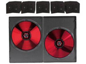 Pearl 50 boîtiers DVD slim (7 mm) noirs pour 2 DVD