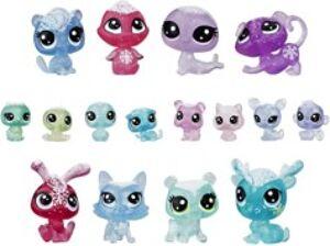 Hasbro Coffret avec 16 figurines Littlest Pet Shop de la Collection givrée