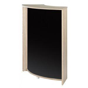Simmob Meuble Comptoir, Meuble Bar 96 cm Face Noire