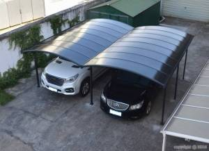 Bouvara Carport double en alu 5x6m toit teinté