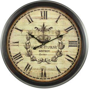 Décoration d'Autrefois Horloge Ancienne Murale Olives 58cm - Fer - Blanc