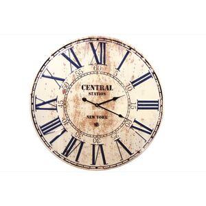 Décoration d'Autrefois Horloge Ancienne Metal Central Station New York 58cm - Métal - Blanc
