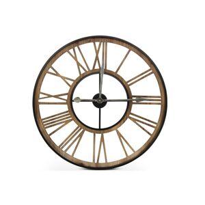 Décoration d'Autrefois Grande Horloge Ancienne Fer Forge Marron 80x4x80cm