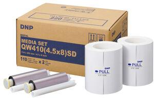 DNP Papier Thermique pour QW410 - 11 x 20cm 220 Photos Stand