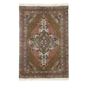 HKliving Dahmani - Tapis à franges d'inspiration orientale - Couleur - Marron, Dimensions - 120x180 cm