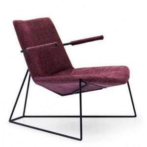 MATHI DESIGN SOLVEIG - Fauteuil design contemporain prune Violet 0.000000