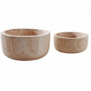 Corbeilles rondes en bois