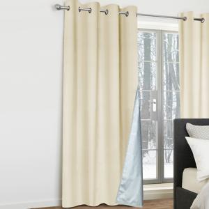 IDMarket Lot de 2 rideaux thermiques beiges 135x240 cm