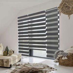 IDMarket Store jour nuit gris 90 x 170 cm
