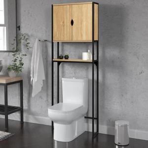 IDMarket Meuble toilette industriel bois et métal