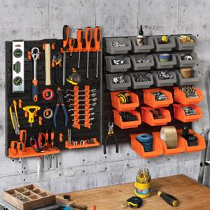 IDMarket Panneau mural rangement outils