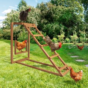 IDMarket Jeux pour poules avec perchoir et balançoire