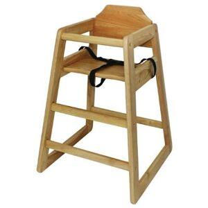 BOLERO Chaise haute en hévéa finition bois naturel