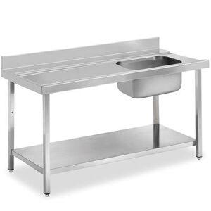 QDM Tables de prélavage pour lave-vaisselle avec étagère - P 750 mm