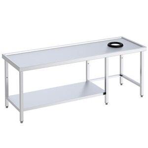 QDM Tables avec orifice vide-déchets et étagère pour lave-vaisselle