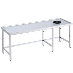 QDM Tables avec orifice vide-déchets pour lave-vaisselle