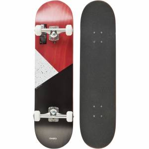 OXELO SKATEBOARD COMPLETE 100 GALAXY ROUGE - OXELO - SANS TAILLE