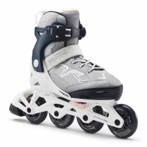 OXELO Roller fitness enfant FIT3 JR Abyss Grey - OXELO - 35/38