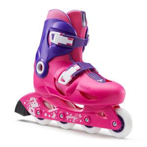 OXELO roller enfant PLAY3 rose violet - OXELO - 30/32