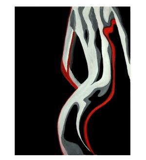 gdegdesign Tableau peinture design femme 60x90 cm - Nina