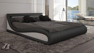 gdegdesign Lit design noir et blanc 160x200 cm - Aspen